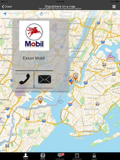 Taxi Companies on a Map