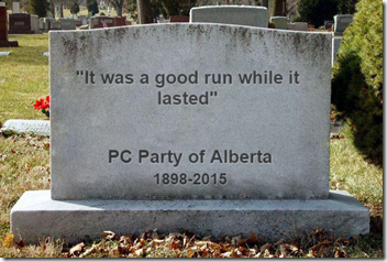 "PC Party of Alberta - ""It was a good run while it lasted"""