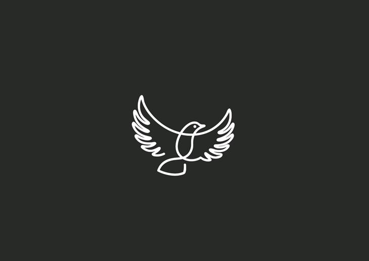 Logotipos de animalitos hechos a una sola línea