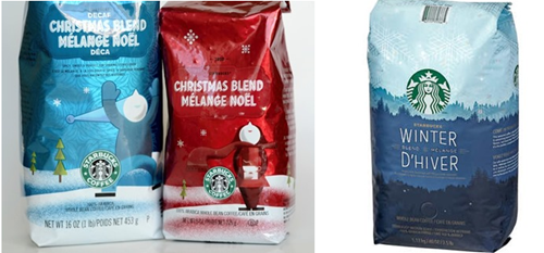 starbucks christmas past present
