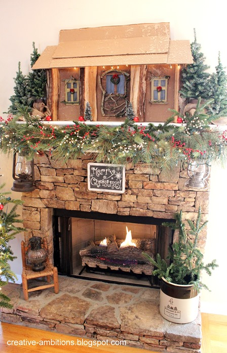 christmas Mantel 2017 e