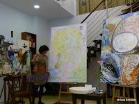 links das 'Kauaii- Gemälde', Mitte 'Im Reich der Sonne', rechts das Gemäle 'Aufstieg der Erde'