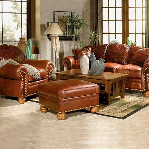 Furniture: Adding-Luxury-with-Leather-Living-Room