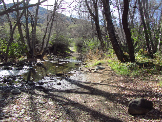 a nice, wide creek crossing with very few stones