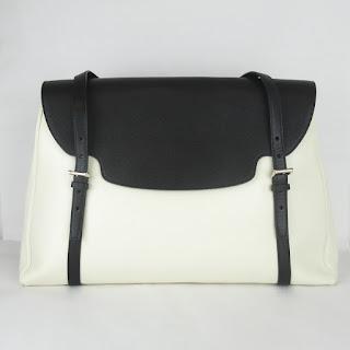 Valextra for Holmes & Yang Black and White Shoulder Bag