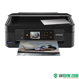 How to reset flashing lights for Epson XP-410 printer