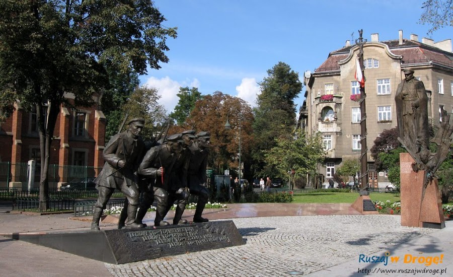 Kraków - pomnik Piłsudskiego