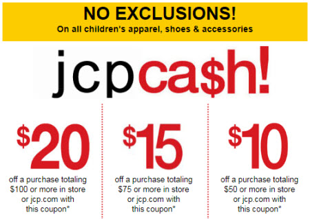 JCPenney coupon kids apparel