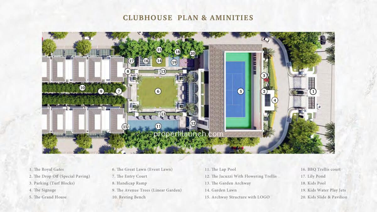 Siteplan Club House Bukit Podomoro
