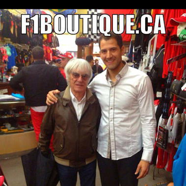When #BernieEcclestone comes to #Montreal during the #F1 #CanadianGrandPrix, he stops at #F1BoutiqueCanada...