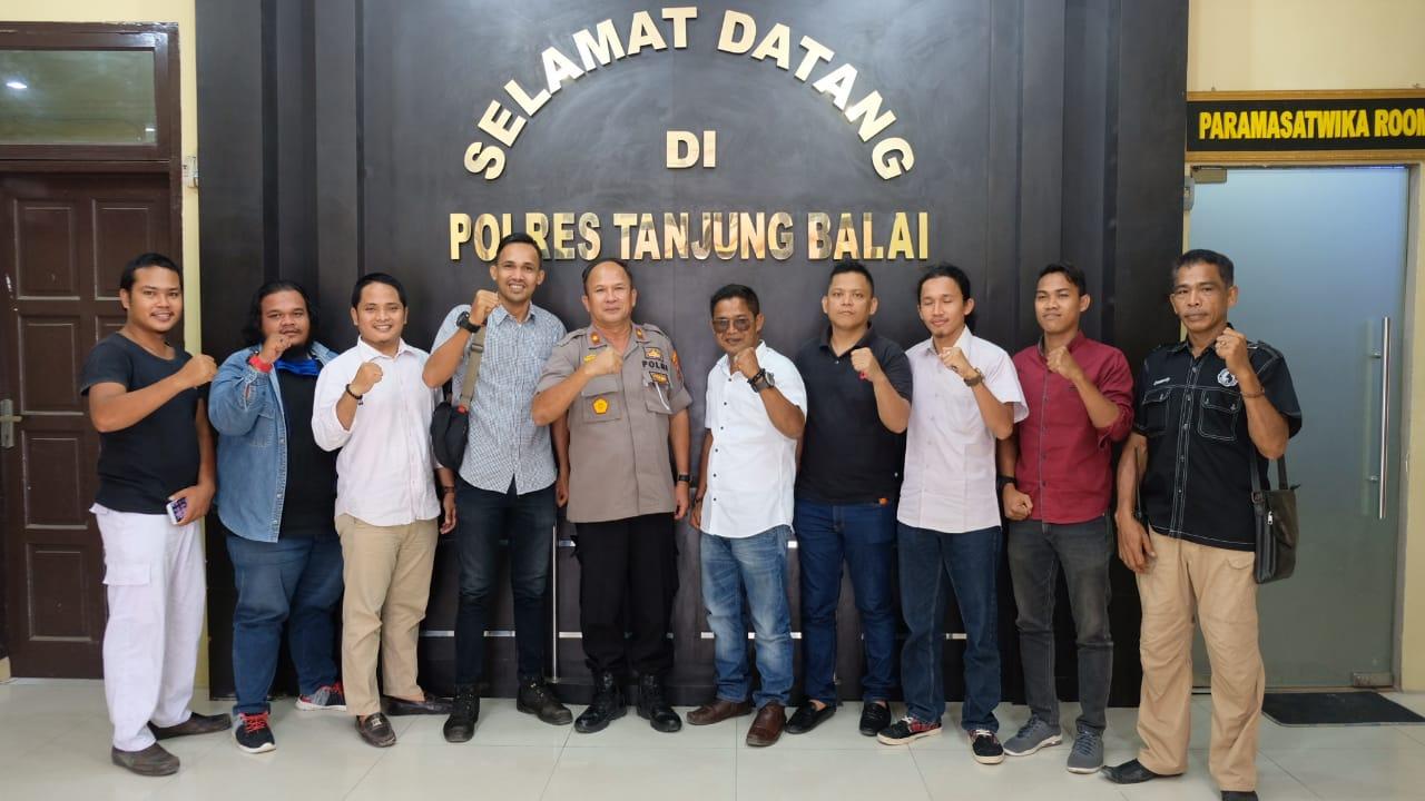 Sejumlah Aktivis Kunjungi Polres Tanjung Balai