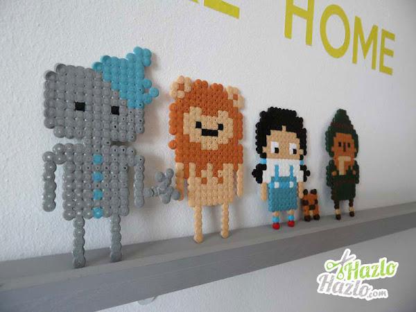 Personajes de El Mago de Oz con hama beads