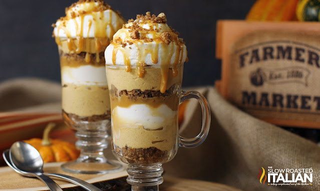 Caramel Spiced Pumpkin Parfaits