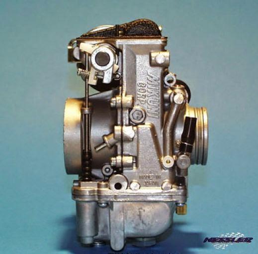 MIKUNI Flachschiebervergaser mit Beschleunigerpumpe DR600-650