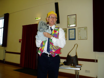 Keith Dyde, Church Army officer, with Scruffy. 5 Nov 2012