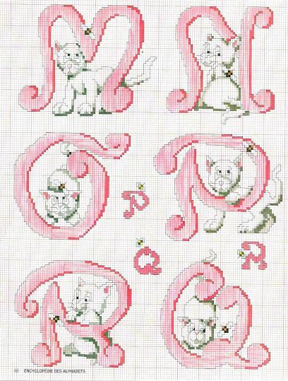Alfabeti e monogrammi per bambini a punto croce
