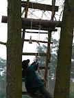 provazový žebřík v akci