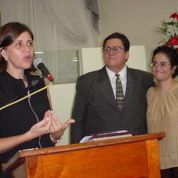 Visita do pastor Diogo e Walena