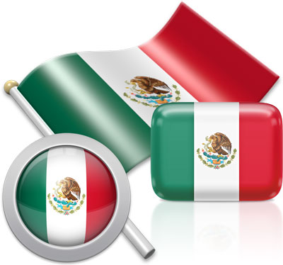 Mexican flag icons pictures collection