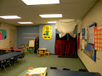 Welcome three-year olds!  What a fun room for learning all about the love of God!  Children access this room through the check-in desk in the hallway.
