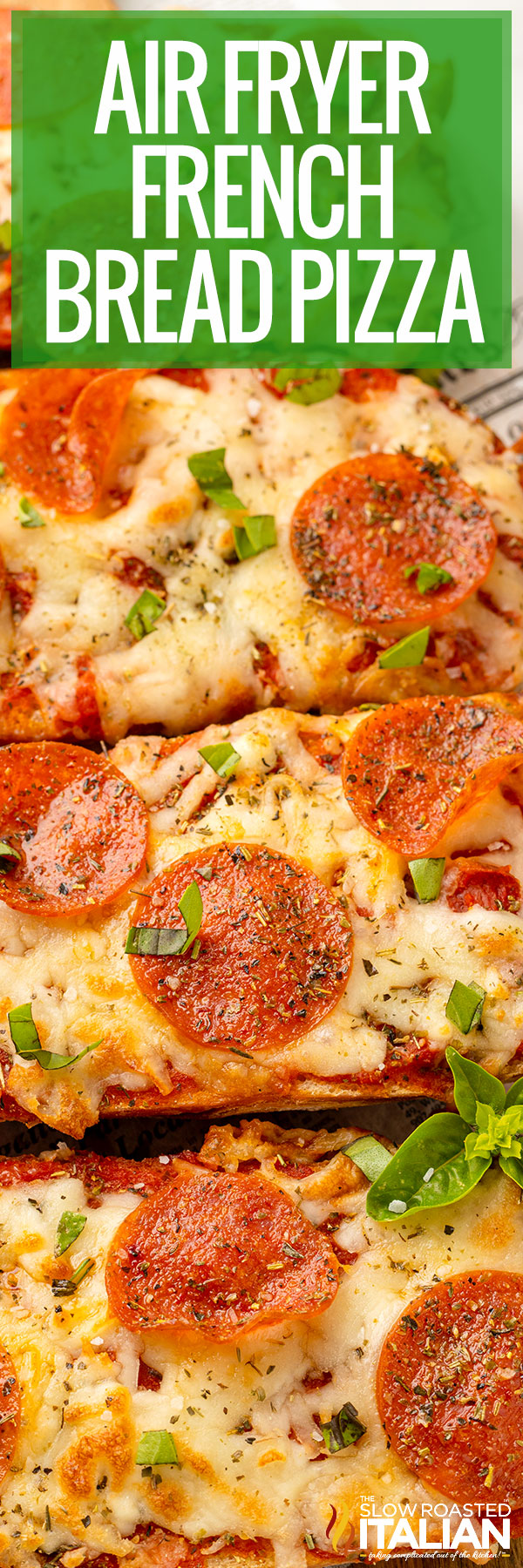 french bread pizza close up