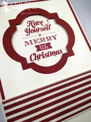 Stampin' Up! - In{k}spire_me #220, Merry little Christmas, Weihnachten, Christmas, Sketch Challenge, Window Framelits
