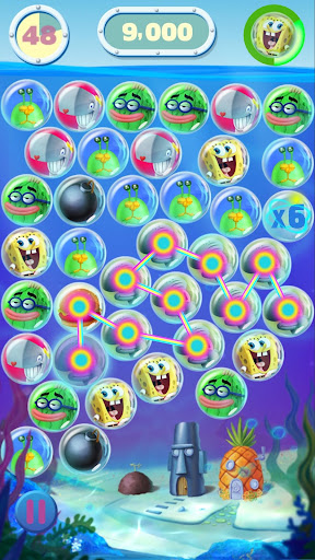 SpongeBob Bubble Party game (apk) free download for Android/PC/Windows screenshot