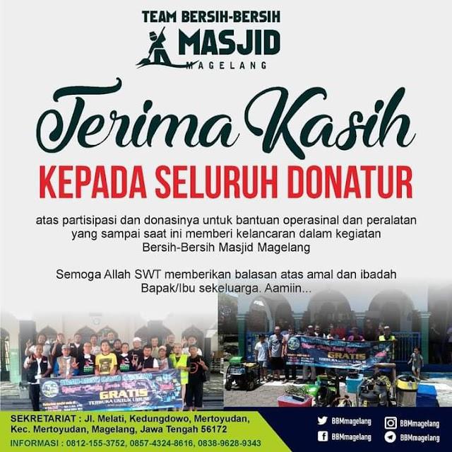 Terima Kasih Para Donatur