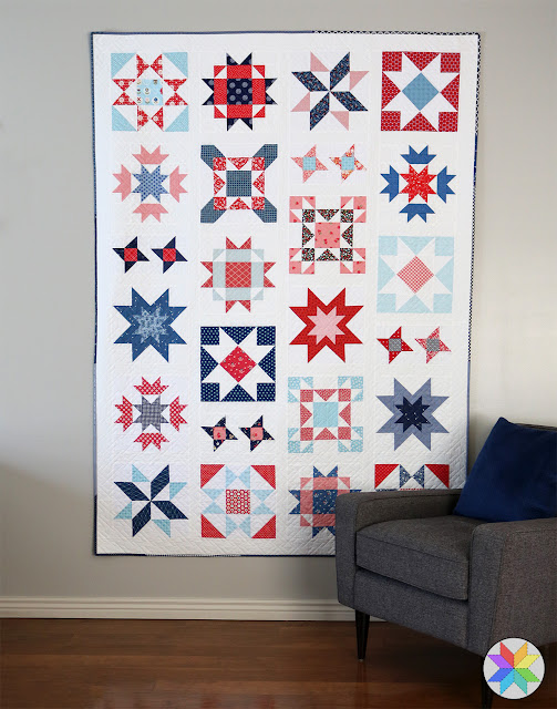Clear Sky quilt scrappy style