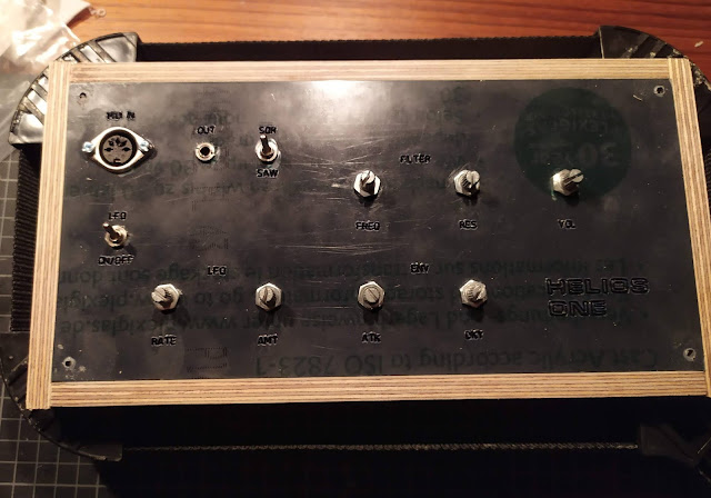 DIY Synth build finished case making