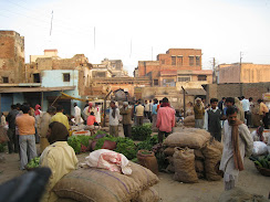Vegetable market in Vrindavan