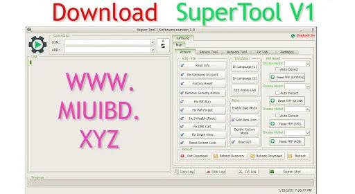 SuperTool V1 Free Download   Samsung Frp , Repair , Fix Tool
