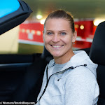 STUTTGART, GERMANY - APRIL 18 : Lucie Safarova in action at the 2016 Porsche Tennis Grand Prix