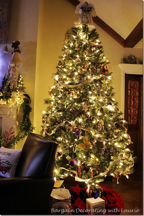 Christmas Tree with Lights and Decor