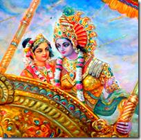 [Krishna taking Rukmini]