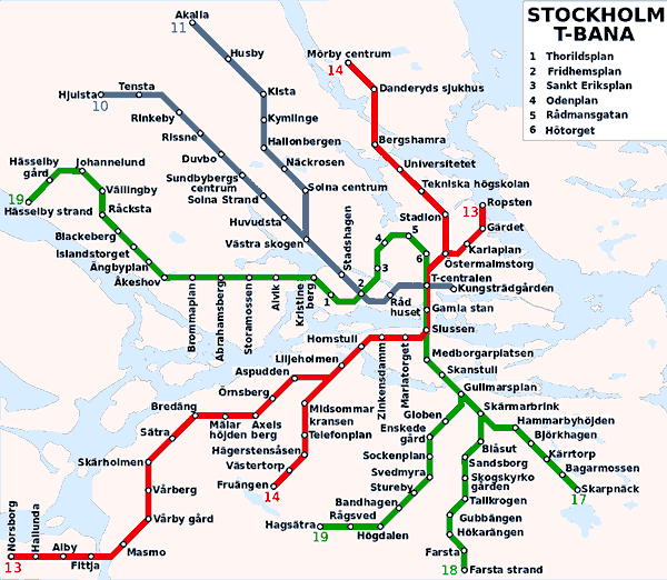 Lineas de metro Arte en el metro de Estocolmo