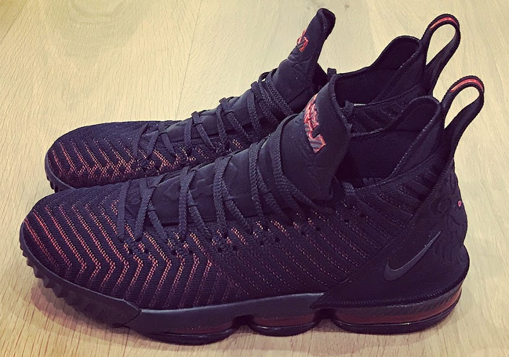 db705140f7610e King James Unveils the Nike LeBron 16 in Black and Red ...