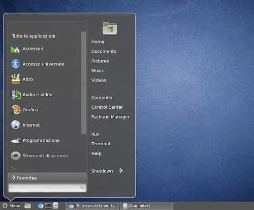 Win7 Menu Emulator  su Cinnamon
