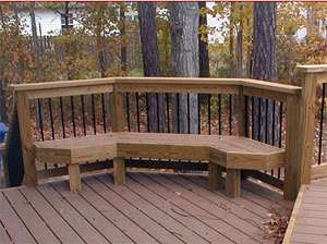 Early Trex deck and bench Newport News, VA