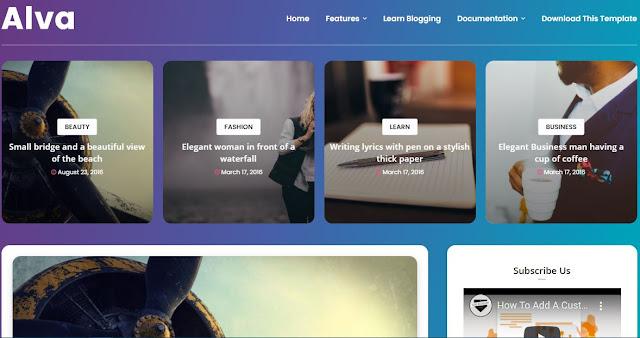 Alva Blogger Theme,Shayari Themes For Blogger