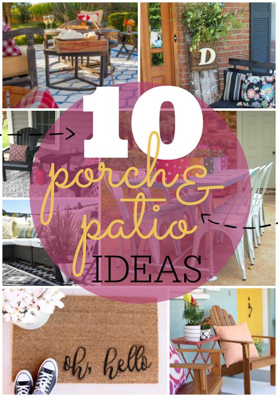 10 Porch & Patio Ideas at GingerSnapCrafts.com #outdoor #spaces