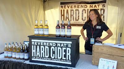 Reverend Nat's  Hard Cider booth