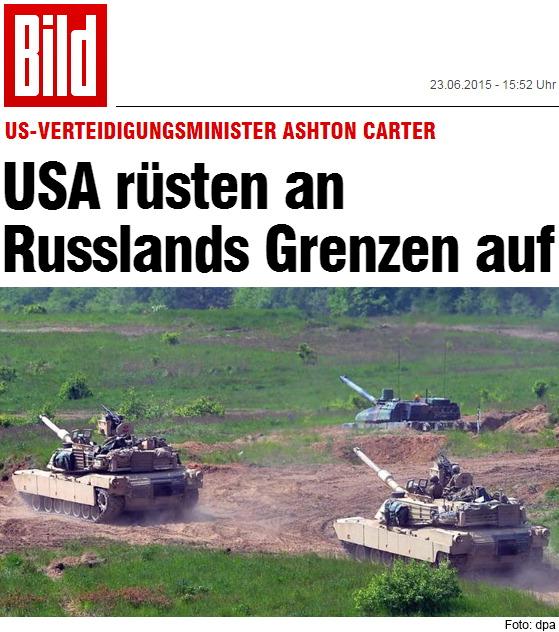 USA rüsten an  Russlands Grenzen auf