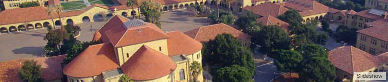 Stanford campus photo from above