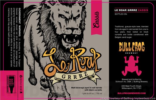 Bullfrog Adding Le Roar Grrrz Cassis, Black Raspberry, Kriek Cocoa & Framboise Cocoa