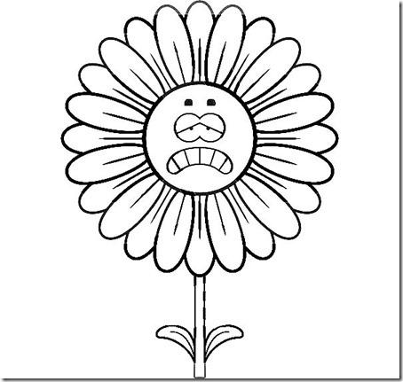 flore sencillas para colorear  (15)
