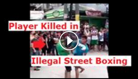 Image of The other day, one of the Facebook user named James Asiado uploaded a video of illegal street boxing that killed one of the Filipino player.