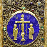 79. Crucifixion, lapis lazuli icon. Byzantine Goldsmith Art. VI-XIII Century. The Treasury of the Patriarchal Cathedral Basilica of Saint Mark. Venice. 2013