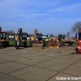 Truckersvereniging Pekela bewijst laatste eer aan overleden Jos Ploeger - Foto's Johan de Groot