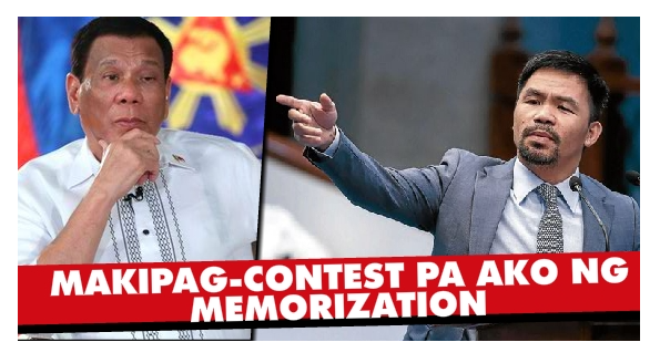 'Hindi sa Pagyayabang!'Pacquiao, Sinagot ang Banat ni Duterte